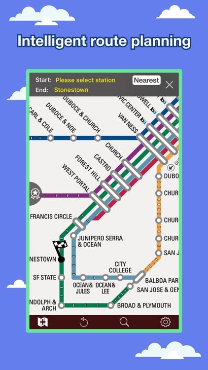 San Francisco Transport Map Metro Map By Ondemandworld