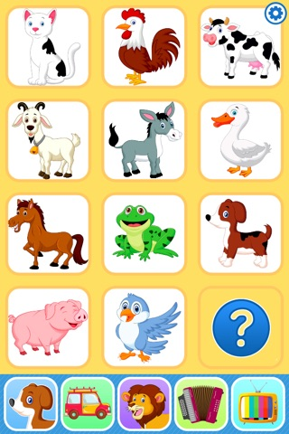 Baby Flash Cards Games & Kids Animal Sounds Free screenshot 1