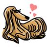 Hao Nguyen - Funny Afghan Hound Dog Sticker  artwork