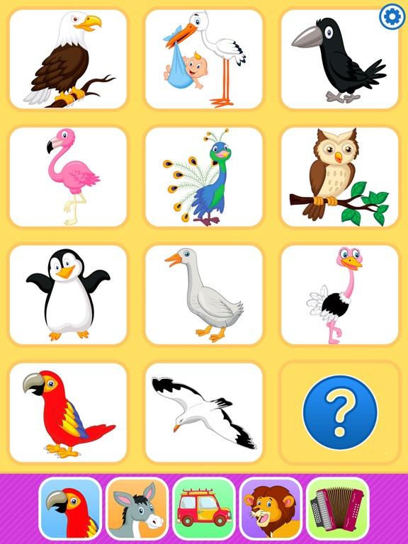 Звуки животных. Развивающие игры для малышей детей на iPad