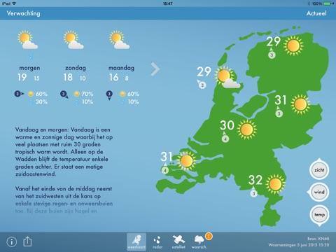 Weerbericht Nederland screenshot 1