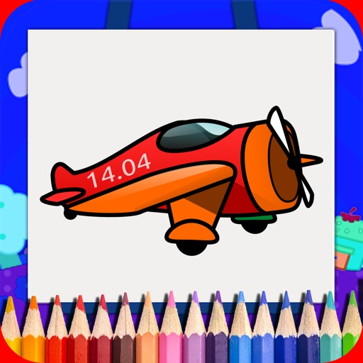 Airplane Coloring Book For Kids Free iOS App