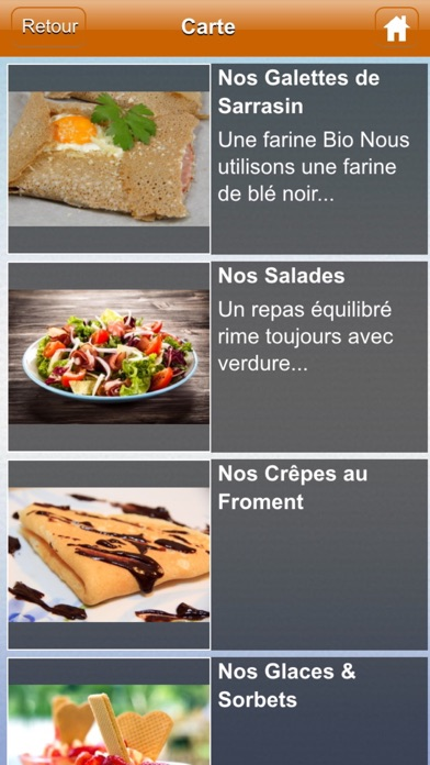 Cap Ouest Restaurant - CrêperieCapture d'écran de 2