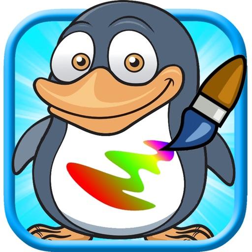 Kids Village Penguin Explorer Coloring Book iOS App