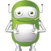 綠色機器人貼紙