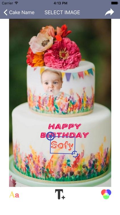 Name Photo On Birthday Cake Frame