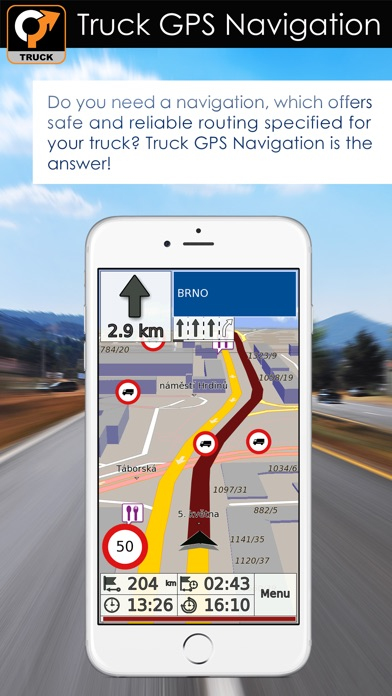 Truck GPS Navigation & Maps iPhone