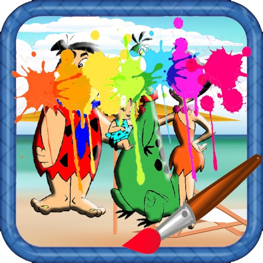 Draw Pages Game The Flintstones Version iOS App