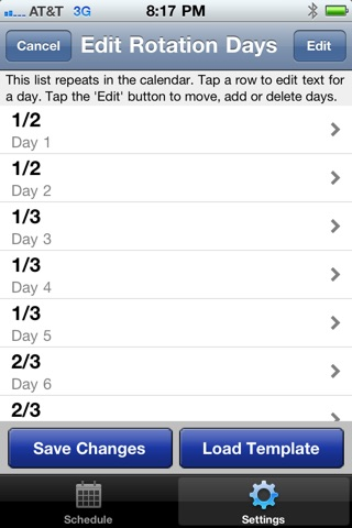 CopApp ! Calendar Schedule Repeating Shift App screenshot 3