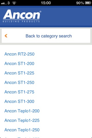 Ancon UK Wall Tie Product Selector screenshot 4