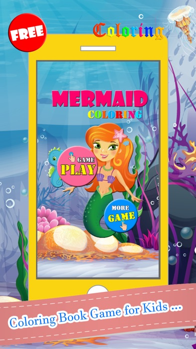 Mermaid Coloring Book Paint Games Free For Kids 2 On The App Store
