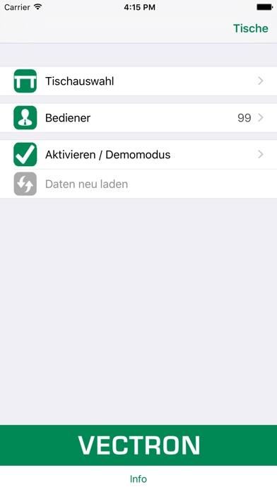 Screenshot von Vectron MobileApp1