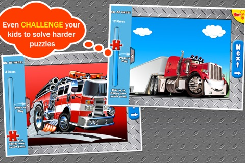 Trucks Jigsaw Puzzles: Kids Trucks Cartoon Puzzles screenshot 4