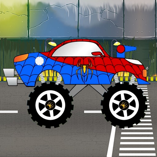 SpiderTruck New York City Racing For SpiderMan Icon