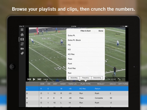 Hudl screenshot 2