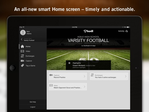 Hudl screenshot 1