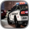 3D Police chase pursuit on the traffic highway