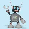 Happy Little Robot animated 3D Stickers Wiki