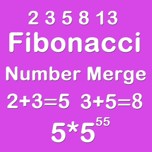 Number Merge Fibonacci 5X5 - Playing With Piano Sound And Sliding Number Block iOS App
