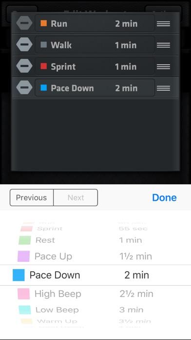 Interval Run screenshot three