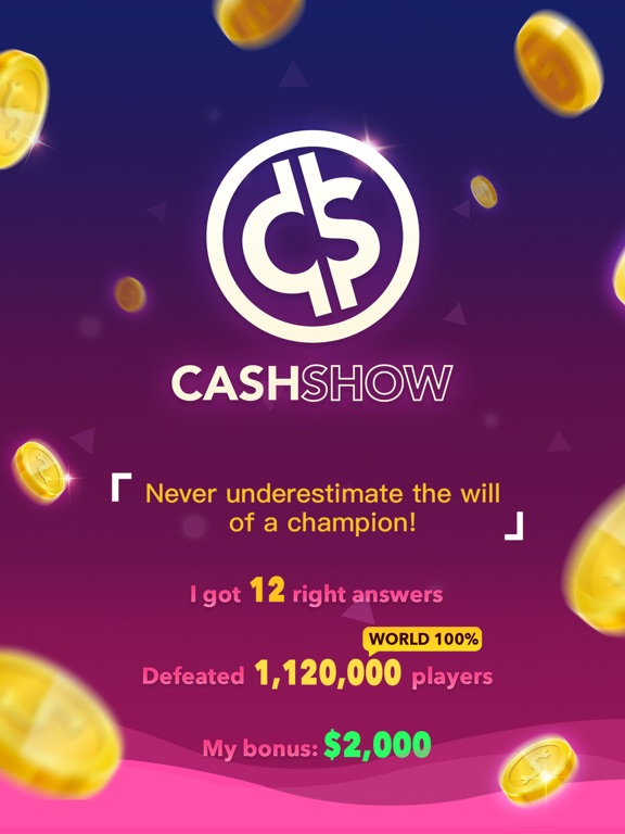 Image of Cash Show - Win Real Cash! for iPad