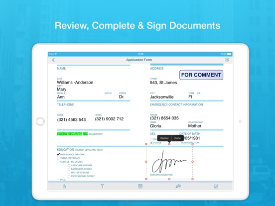 Docs works scan papers fill forms and sign documents for Sign documents app free