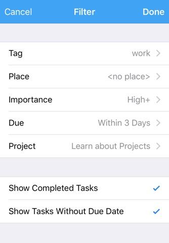 ActionComplete GTD Toolkit 2 screenshot 3