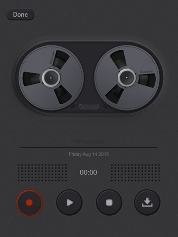 Screenshots of Voice Manager for Audio Recording, Playback, Trimming and Sharing for iPad