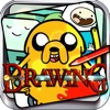 """Drawing Desk Draw and Paint Cartoon on Coloring Book - """"Adventure Time Edition"""""""