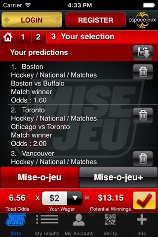 Mise-o-jeu screenshot 2