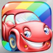 rainbow cars kids learn colors through fun games