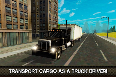 Great American Cargo Trucks: Driving Sim 3D Full screenshot 1