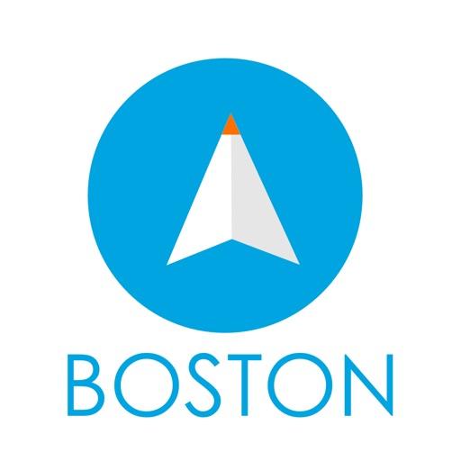 ボストン(アメリカ)旅行者のためのガイドアプリ 距離と方向ナビのPilot(パイロット)