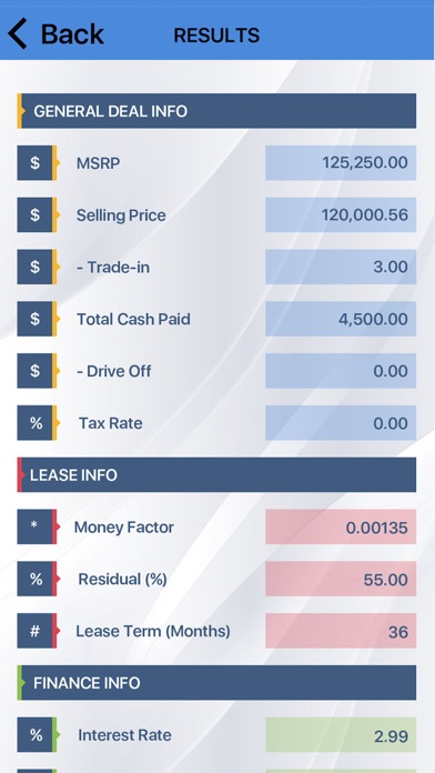 Car Lease Payment Calculator On The App Store