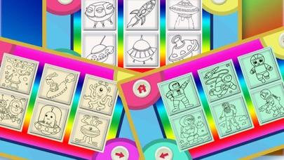 Screenshot of Libri da colorare per i bambini - Paint & Doodle per rendere il Spaceship e Robot colorato2