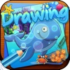 Drawing Desk Sea Animals : Draw and Paint Coloring Book Educational For Kids
