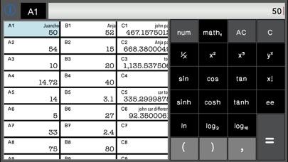 Screenshot of Calculator SpreadSheet Lite4