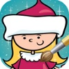 Christmas Coloring Book : Colouring Santa Claus Xmas & Princess Child for Kids Draw Colour