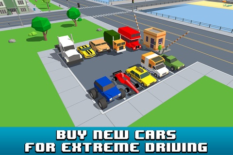 Smashy Car Race 3D: Pixel Cop Chase Full screenshot 3
