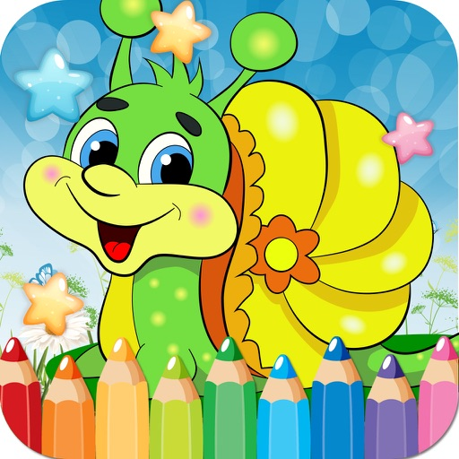 Snail Drawing Coloring Book - Cute Caricature Art Ideas pages for kids iOS App