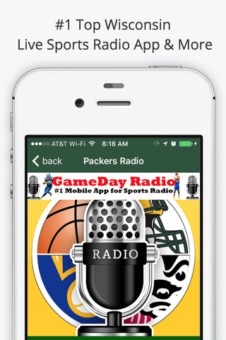 Green Bay GameDay Live Radio – Packers & Bucks Edition screenshot 2