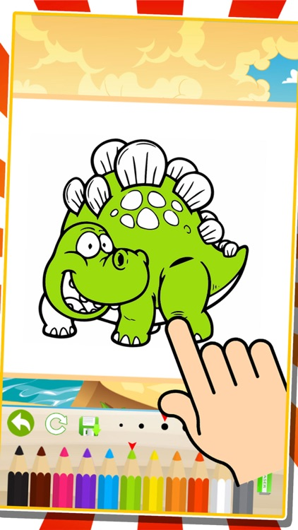 Dinosaurs Coloring Books Finger Paint Painting Games For Kids by ...