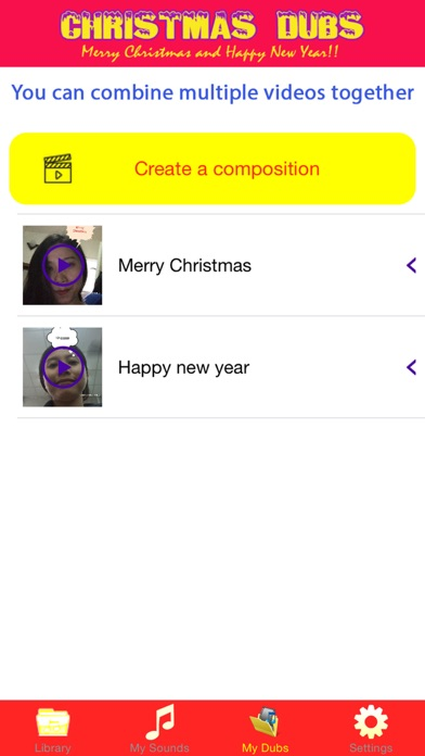 Screenshots of Christmas Dubs - Dub video maker with your favorite sound for Xmas and Happy New Year for iPhone