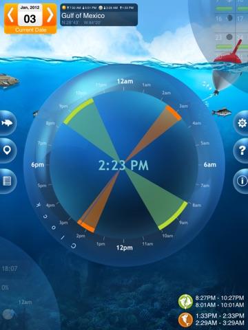 Screenshot #2 for Fishing Deluxe - Best Fishing Times Calendar