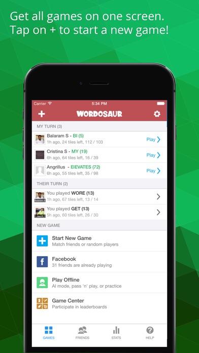 Wordosaur screenshot 2