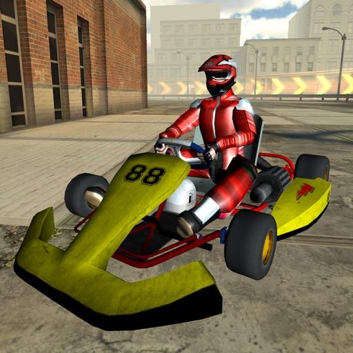 3D Go-kart City Racing - Outdoor Traffic Speed Karting Simulator Game FREE