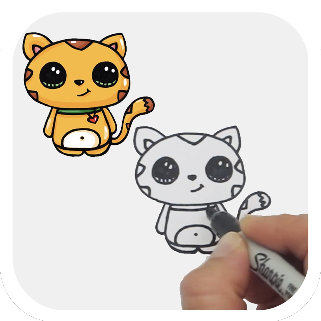Gallery For gt How To Draw Cute Animals Easy Step By