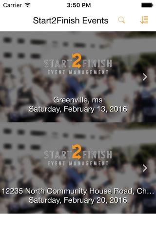 Start2Finish Events screenshot 1