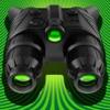 夜視攝像機 - 真! HDR - 在黑暗中看到(在低光照模式夜視實)綠色護目鏡望遠鏡變焦(視頻,照片)和私人/保密文件夾親