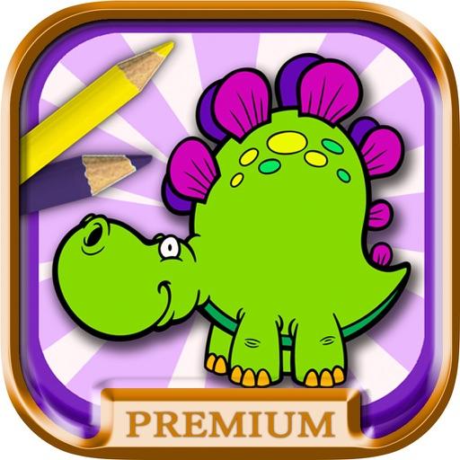 恐龙世界儿童涂手动物画画简书6岁宝宝早教益智游戏